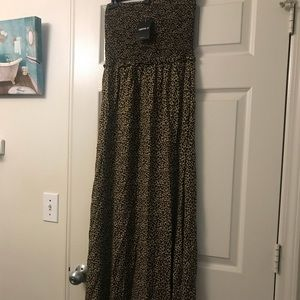 Leopard Tube Maxi Dress